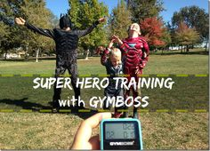 Super Hero training with GYMboss... full (7 minute) giggle filled workout when you follow the link.