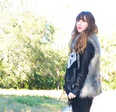 Seriously <3 @MeganFrugalista  's faux fur vest! So chic!