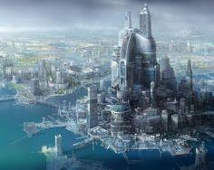FUTURE FANTASY CITY ON ICE FLOES - Desktop Nexus Wallpapers
