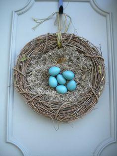 bird's nest wreath-pretty for spring