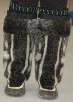 Inuit made sealskin duffle via Sandra Ann Shields
