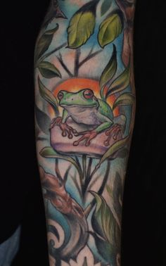 Red Eyed Tree Frog Tattoo