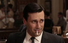 thoughts, draper crush, don draper, charact, men style, smoking, thought catalog, mad men, fave scene