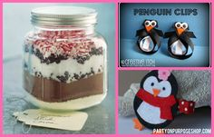 penguin party ideas: pink penguin favors