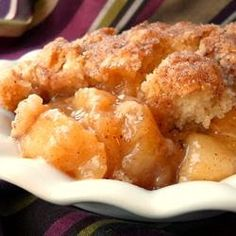 Fresh Southern Peach Cobbler ... many more ingredients than my usual but looks so delicious.