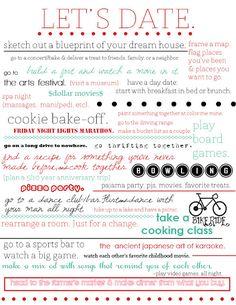 Date night ideas!!