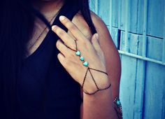 turquoise hearts slave bracelet turquoise jewelry by alapopjewelry, $24.00