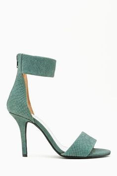 Jeffrey Campbell Inaba Pump in Sage Snakeskin