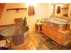 stock tank bathtub | Bathroom - stock tank tub and sink