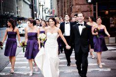 Rich purple bridesmaids' dresses - ♥