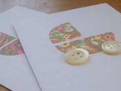 cute idea for baby shower card