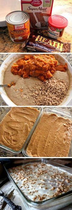 Pumpkin Spice Crunch Cake! | Foodboum
