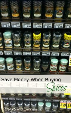 Shopping Tip: Save Money When Buying Spices