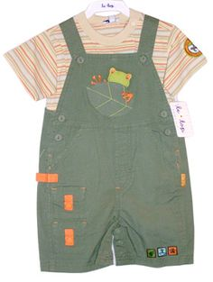 Le Top Rainforest Tree Frog Shortall Set $25.00 - on sale!