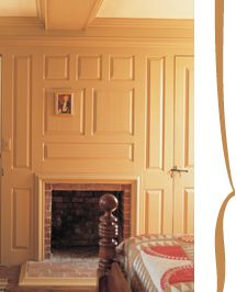 Cape Cod/Colonial Fireplace: raised wood paneling