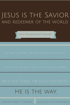 August Visiting Teaching Message Handout: The Divine Mission of Jesus Christ  Messiah #LDS