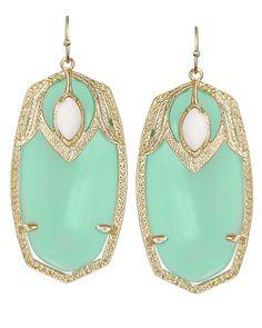 mint + gold earrings
