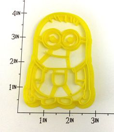 Despicable Me Minion Cookie Cutter by WarpZone on Etsy, $6.00