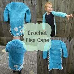 #Crochet Elsa Cape #Frozen