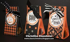 paper craft, treat holder, halloween treats