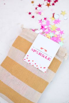 DIY Project: Gold Striped Confetti Bags