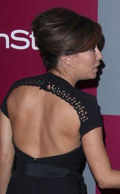 Eva Longorias elegant, updo hairstyle