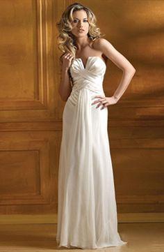 V-line Strapless Wedding Dress With Ruffles