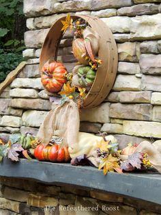 A Grain Sieve Fall Wreath