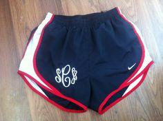 Custom Monogrammed Nike Shorts...YES PLEASE!