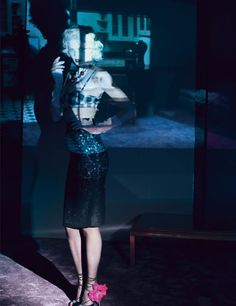 Lara Stone by Paolo Roversi for W