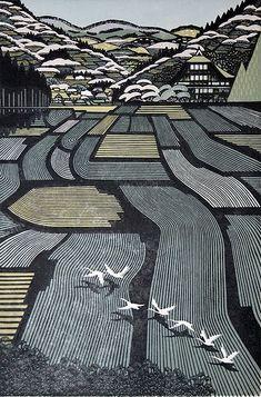 Woodblock print: Ray Morimura