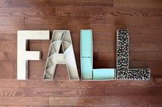 tuTORIal: How to Make Fall Letters