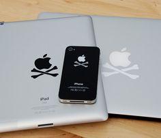 Crossbone decals for iPad & iPhone
