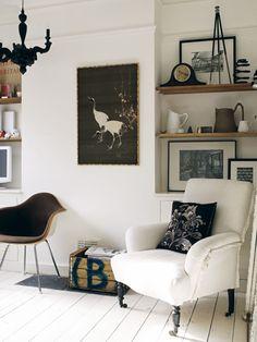 gorgeous monochrome interior #living room #white interior #designer interior