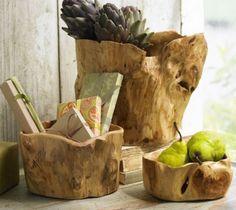 bowls tree design interior design natural nature fir tree fir centerpiece decor root