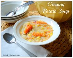 Creamy Potato Soup - easy and looks really yummy.