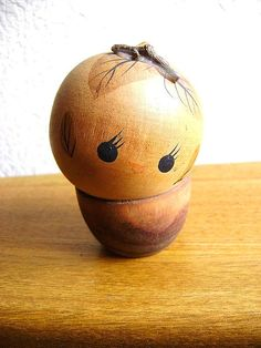 Japanese Kokeshi Doll Vintage Wood Nymph by VintageFromJapan, $18.50