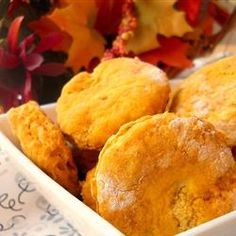 "Pumpkin Biscuits | ""I made these for a late afternoon snack today, and they were simply amazing. They are light and fluffy, and eaten right out of the oven."""