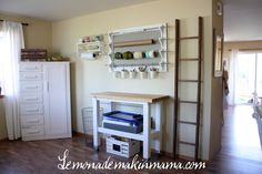 DIY wrapping station. Great ideas! #giftwrap little crafts, craft space, gift wrapping, creativ chao, organization station, wrapping station, simpli organ, craft tables, craft rooms