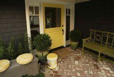 yellow front door!