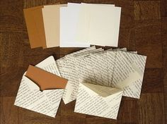 Use pages from an old book (or copied pages of a favorite excerpt) to make notecard envelopes.  *Love*