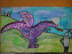 The Elementary Art Room!: third grade  knights and dragons