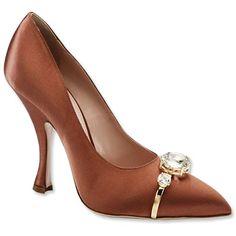 Miu Miu Satin Embellished Shoes