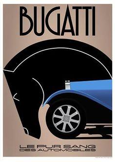 Bugatti poster ~ 1930