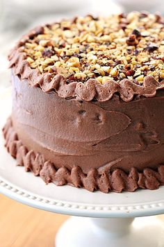 Chocolate Hazelnut Cake | She Wears Many Hats