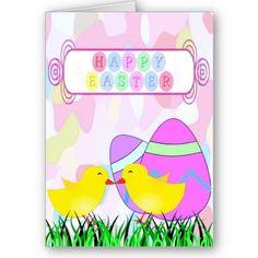 $3.55 #cards #easter #zazzle #elenaindolfi Pretty Easter Greetings Card by elenaind