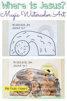 Where is Jesus Magic Watercolor Art