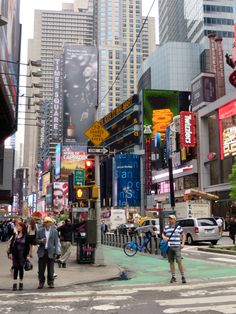 Walking towards Times Square. NYC
