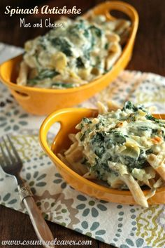 Spinach Artichoke Mac and Cheese.