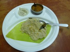 Breakfast at Saravana Bhavan